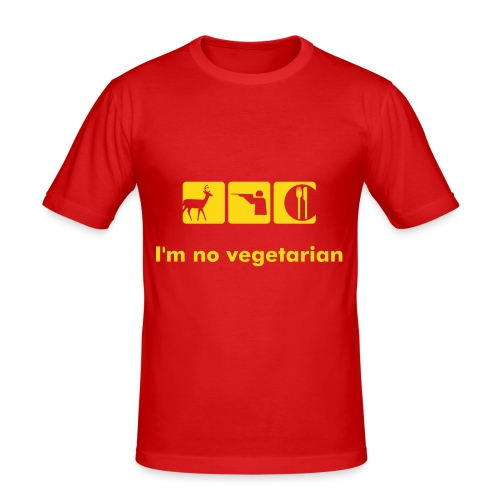 slim fit T-shirt - I'm no vegetarian