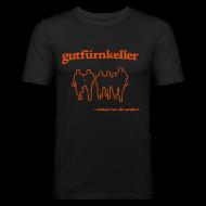 T-Shirts ~ Männer Slim Fit T-Shirt ~ Leibchen H tailliert schwarz