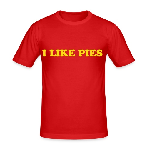I like Pies - Men's Slim Fit T-Shirt