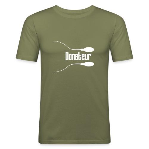 Donateur - T-shirt près du corps Homme