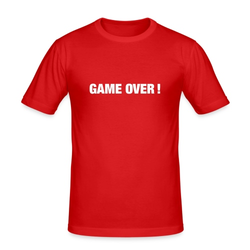 Game over! - T-shirt près du corps Homme