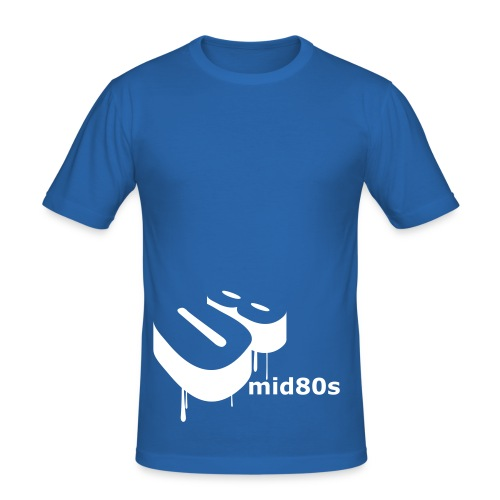 mid80's blue - Men's Slim Fit T-Shirt