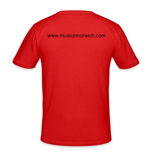Music in Norwich mens red tee - Men's Slim Fit T-Shirt