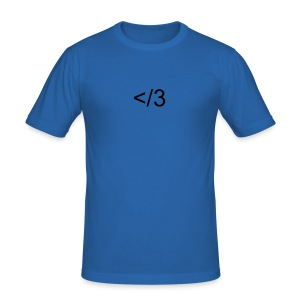 leet heart - Men's Slim Fit T-Shirt