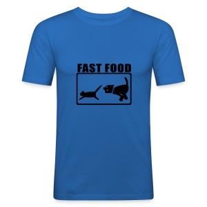 Fast Food Sky Blue - Men's Slim Fit T-Shirt