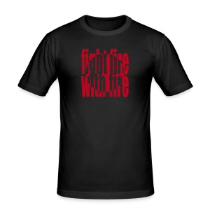 Fight Fire with Fire flock print - Men's Slim Fit T-Shirt