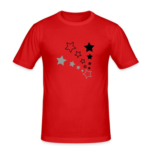 Starry Red - Men's Slim Fit T-Shirt