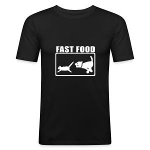 Fast Food Black - Men's Slim Fit T-Shirt