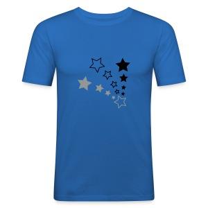 Starry Sky Blue - Men's Slim Fit T-Shirt