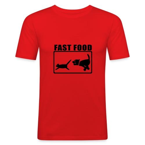 Fast Food Orange - Men's Slim Fit T-Shirt