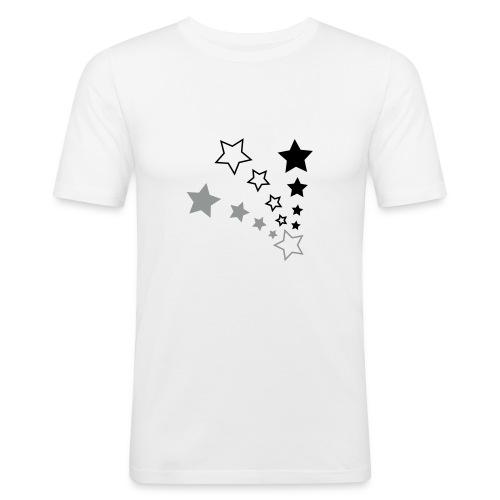 Starry White - Men's Slim Fit T-Shirt