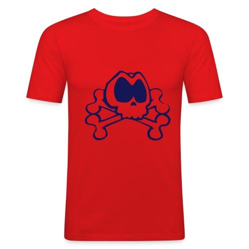 koszulka czacha - Obcisła koszulka męska