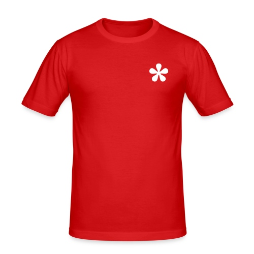slim fit T-shirt - Flower, man, symbols, Online Shirtshop