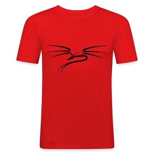 t-shirt, orange - Männer Slim Fit T-Shirt