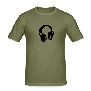slim fit T-shirt - Headphone, man, music,  Online Shirt shop