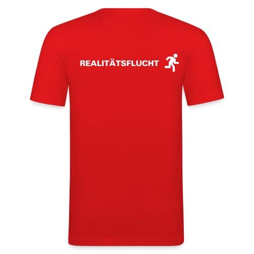 T-Shirt Realitätsflucht - Männer Slim Fit T-Shirt