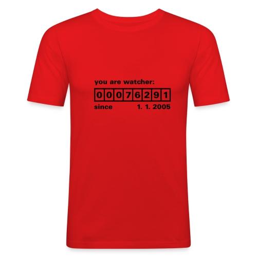 Watcher number... men - Men's Slim Fit T-Shirt