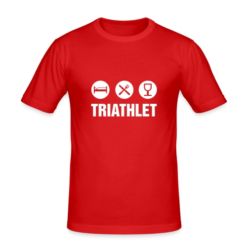 T-Shirt + Triathlet - Männer Slim Fit T-Shirt