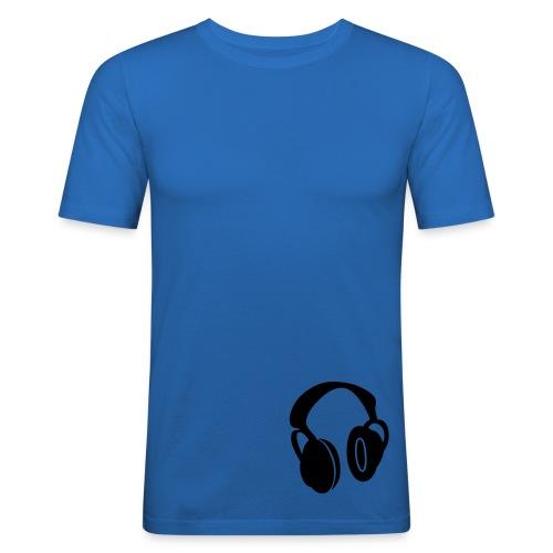 Men's Slim Fit T-Shirt - Headphones T-Shirt