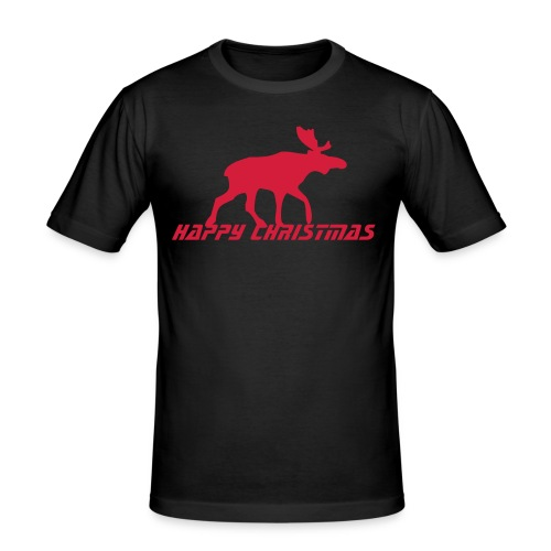 Happy Christmas  men - Männer Slim Fit T-Shirt