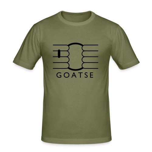 Goatse Camel/Black - Men's Slim Fit T-Shirt