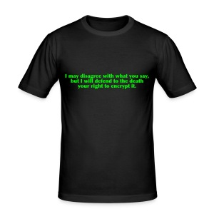 I may disagree with... - Männer Slim Fit T-Shirt