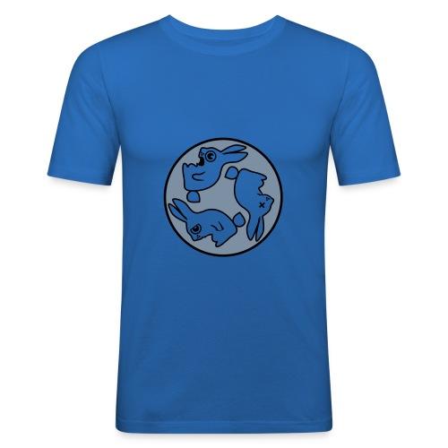 Rabbit Azul - Camiseta ajustada hombre