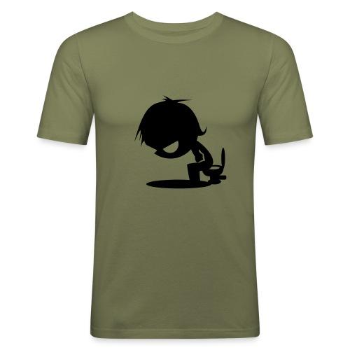 Motivshirt - Männer Slim Fit T-Shirt