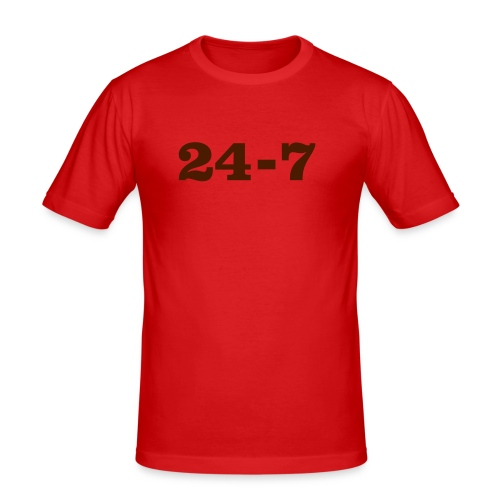 24-7 - Slim Fit T-shirt herr