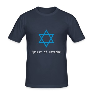 T-Shirt Magen David - Männer Slim Fit T-Shirt