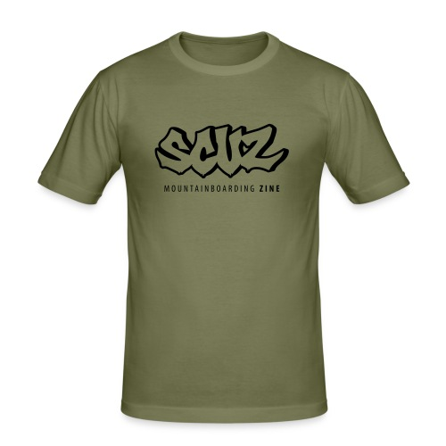 The Scuz T (olive/black) - Men's Slim Fit T-Shirt