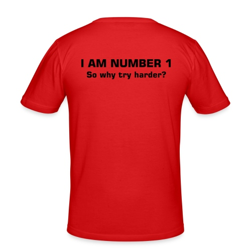number 1 - Men's Slim Fit T-Shirt