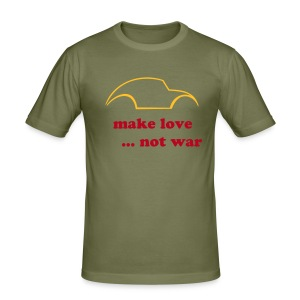 1HH motif Make love not war - Tee shirt près du corps Homme