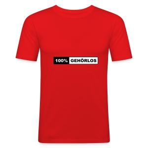 100% Gehörlos - Männer Slim Fit T-Shirt