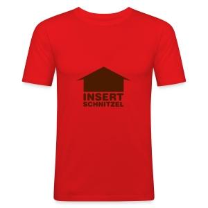Insert Schnitzel Shirt for Men - Men's Slim Fit T-Shirt