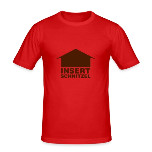 Insert Schnitzel Shirt for Men - Men's Slim Fit T-Shirt