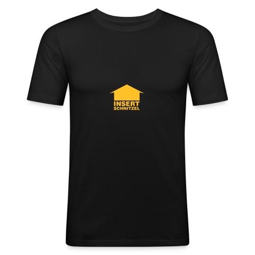 Insert Schnitzel Tee - Männer Slim Fit T-Shirt