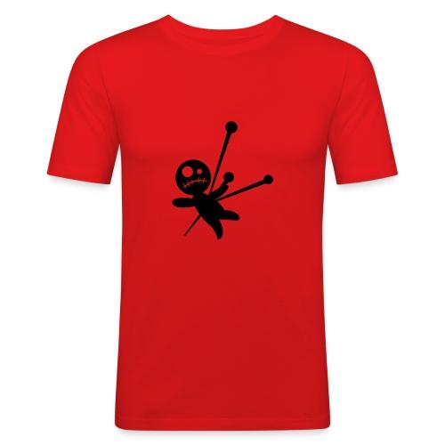 voodoo blk print - Men's Slim Fit T-Shirt
