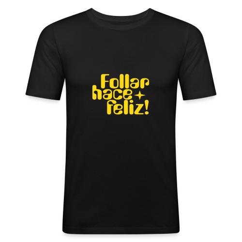 socfeliz - Camiseta ajustada hombre