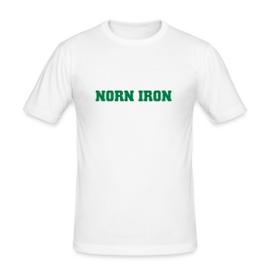 White Norn Iron Hanes Fit-T - Men's Slim Fit T-Shirt