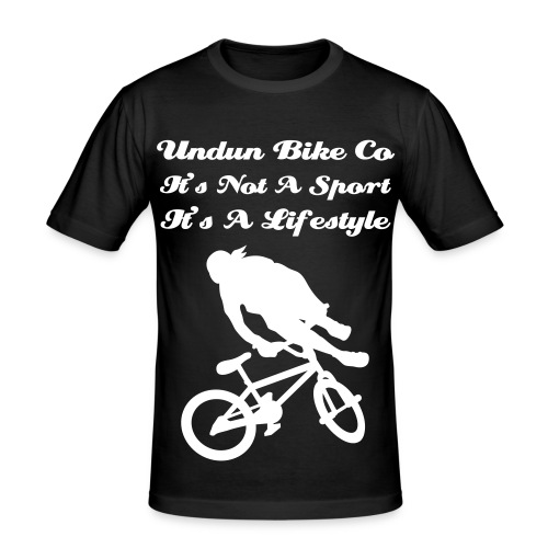 Black Lifestyle tee undun bike - Men's Slim Fit T-Shirt