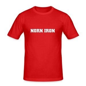 Orange Norn Iron Hanes Fit-T - Men's Slim Fit T-Shirt