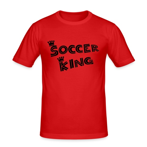 T-Shirt Soccer King - Männer Slim Fit T-Shirt