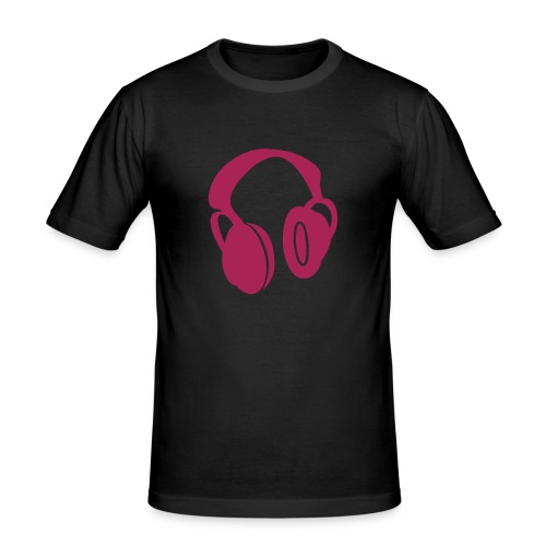 Music is my life Pink - slim fit T-shirt