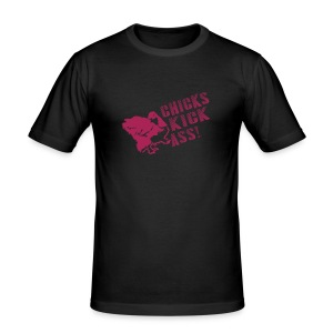 Chicks Kick Ass - slim fit T-shirt
