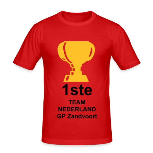 1ste plaats beker - slim fit T-shirt