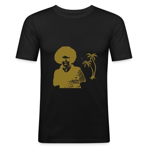 T.030Black - T-shirt près du corps Homme