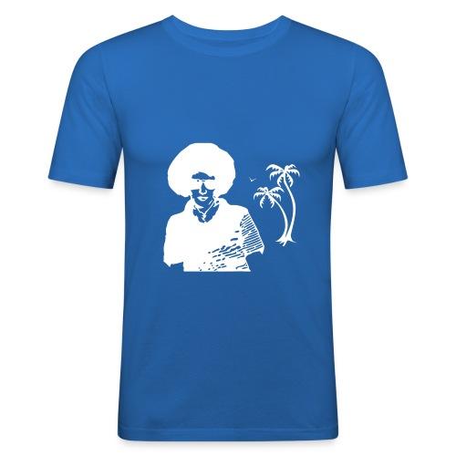 T.030Cyan - T-shirt près du corps Homme