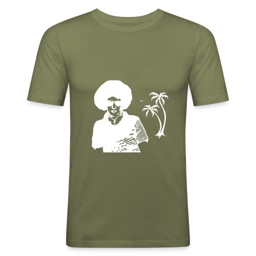 T.030Olive - T-shirt près du corps Homme