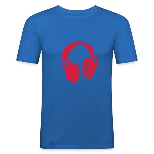 t shirt logo casque - T-shirt près du corps Homme